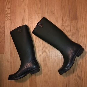 Lucky brand green rain boots tall